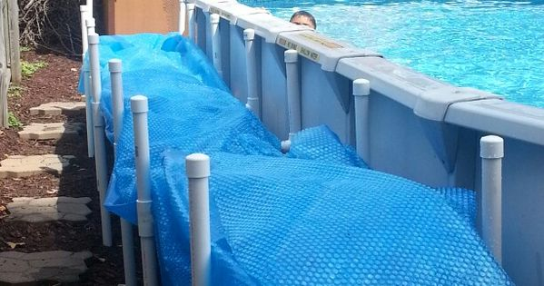 Solar Cover Holder Husband Made Pool Ideas