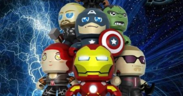 The Avengers Paper Toys By China Paper Model Alliance Very Nice Paper Toy Versions Of The Avengers Like As Real Vinyl Paper Toys Basteln