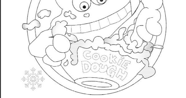 Cookie Dough Page Coloring Pages
