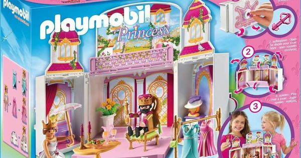 Playmobil Princess 4898 Konigsschloss Aufklapp Spiel Box Spielzeug Spielset Mit Zubehor Playmobil Play Mobile Spielzeug