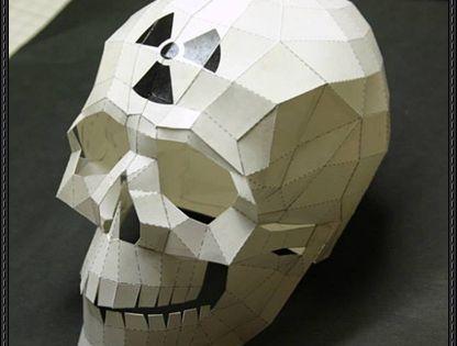 sloth mask template - halloween nuke skull free papercraft download http