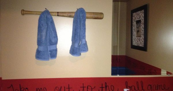 Baseball Bar Towel Bar I Made This With An Old Baseball