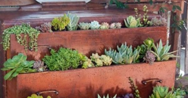 old dresser planter- very cool idea