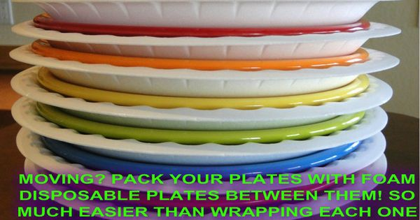 Moving tip: Pack Plates w` foam paper plates in between each one.