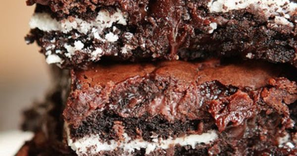 Cookies and Cream Oreo Fudge Brownies Recipe 1 box Brownie Mix eggs