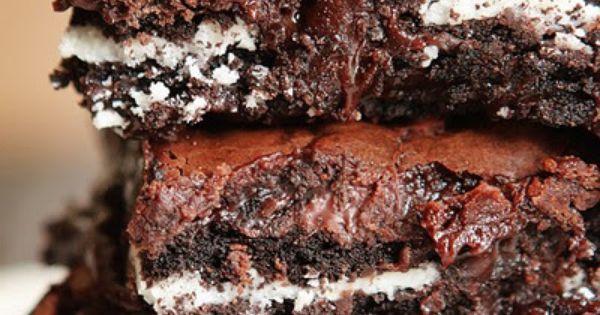 Cookies and Cream Oreo Fudge Brownies Recipe 1 box Brownie Mix eggs