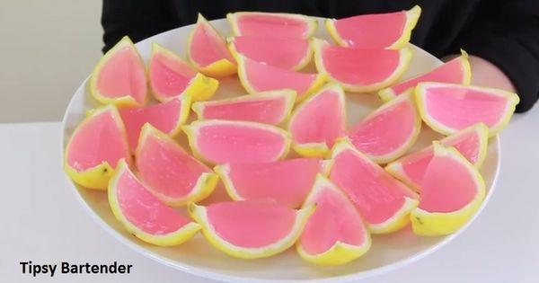 Pink Lemonade Jello Shots - TipsyBartender.com | Lemonade ...