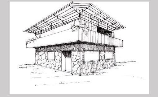 Tam Ocio Fotos Guia De Dibujo En Tinta Y Perspectiva Bocetos Arquitectura Croquis Arquitectura Punto De Fuga