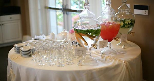 Pinterest Wedding Shower: Beautiful Punch Display For A Shower Or Wedding
