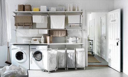 Ikea Algot Laundry Room Ikea Laundry Room Small Laundry Rooms Laundry Room Design
