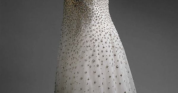"""L 'Eléphant Blanc"" c.a. S/S 1958, Medium: silk, metallic thread, glass, plastic"