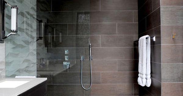 #Contemporary bathroom design with an open shower and large bathroom design bathroom