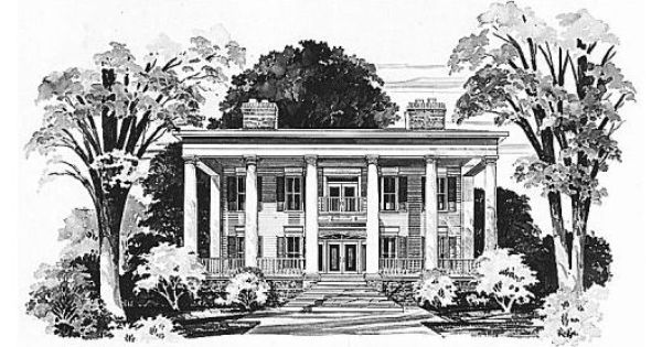 Old south home plan lockamy plantation home pinterest Old plantation house plans