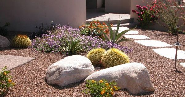 Desert Front Yard Landscaping without Grass