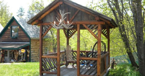 Rustic Pavilion Plans Rustic Gazebo For The Home