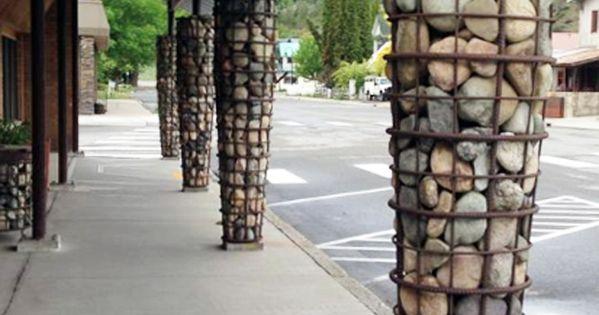 Rebar Stone Basket Column Covers Twisp Washington