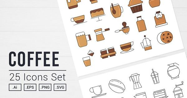 Coffee Time Vector Icon Set – perfect for barista and projects related to coffee