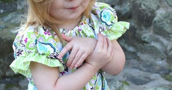 Bohemian Peasant Dress Pattern (2T) + headband tutorial