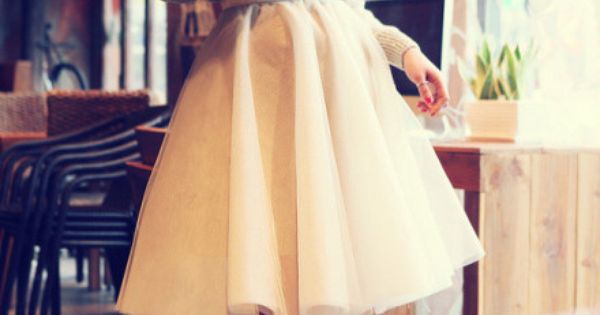 sweater + skirt + heels