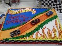 Magnificent Hot Wheels Cake Walmart Hot Wheels Cake For A J With Images Birthday Cards Printable Opercafe Filternl