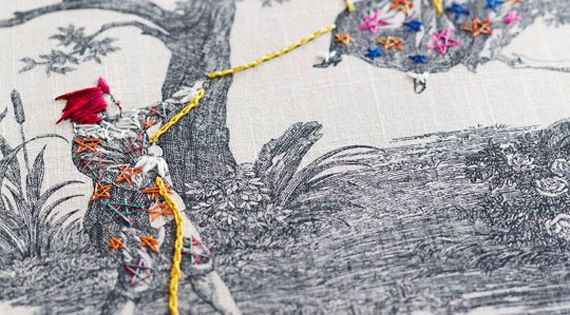 We're smitten with Richard Saja's eye-catching embroidery. This is a great idea