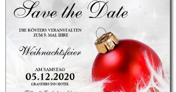 weihnachtsfeier einladung save the date karte weihnachtsfeier einladungen einladungen und. Black Bedroom Furniture Sets. Home Design Ideas