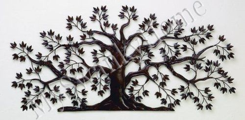 Amazon Com 50 Tree Of Life Large Iron Wall Art Indoor Or Outdoor Home Kitchen Iron Wall Art Metal Tree Wall Art Tree Wall Art