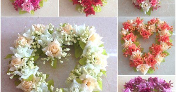 pas cher livraison gratuite soie fleurs fausses fleurs coeur rose guirlande de fleurs. Black Bedroom Furniture Sets. Home Design Ideas