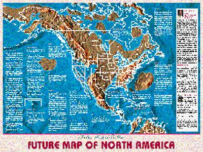 Future Map Of North America Possible Maps of The Future | Map, America map, Flood map