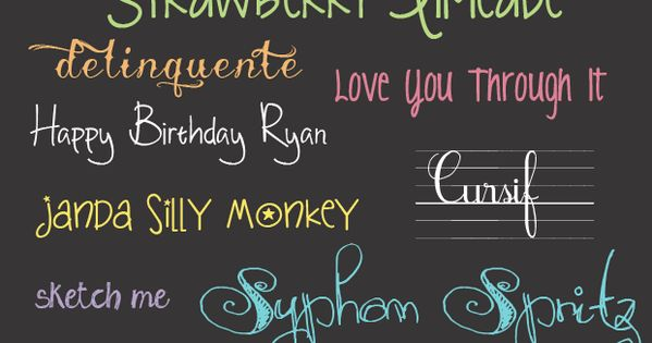 20 free handwriting fonts FREE