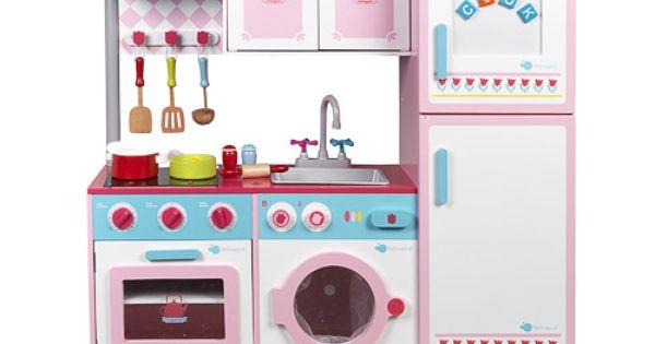 Imaginarium cocinita de madera con accesorios grand chef for Cocina juguete imaginarium