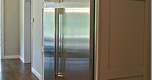Kenmore Pro Refrigerator And Freezer Pair And Then Pushed