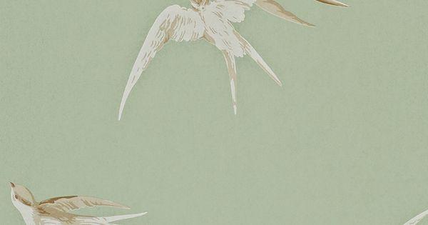 Heal 39 s sanderson swallows wallpaper wallpaper - Sanderson swallows wallpaper pebble ...
