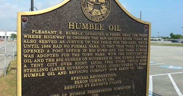 Humble Oil Marker At The Humble Civic Arena Humble