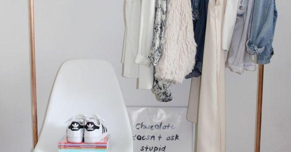 eine eigene kleiderstange aus kupferrohren selber bauen. Black Bedroom Furniture Sets. Home Design Ideas