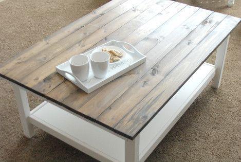 Diy farmhouse coffee table diy pinterest farmhouse for Ikea farmhouse coffee table