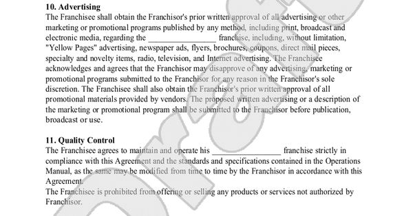 Testing contract Pinterest - knowing about franchise contracts