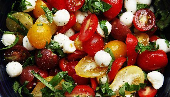 Tomato Basil Mozzarella Salad | Savory Sweet Life - Easy Recipes from