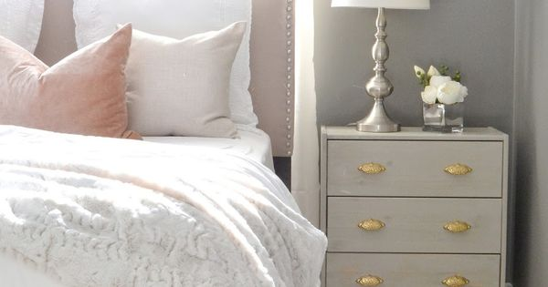 EASY 2 step tutorial for taking a plain Ikea nightstand and staining