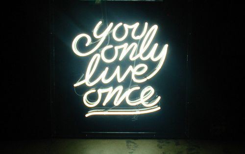 neon sign quote