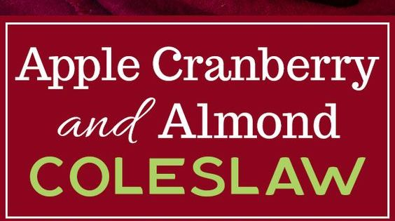 Tangy Cranberry Almond Coleslaw Recipe — Dishmaps