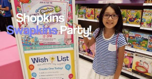 Toys R Us Birthday Party : Shopkins swapkins party at toys r us vlog youtube