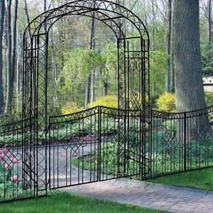 Wrought Iron Arbor On Hayneedle Iron Garden Arch For Sale
