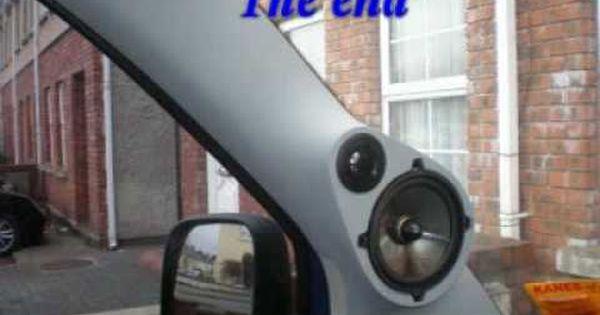 Making Fiberglass Tweeter Pods Custom Car Audio A Pillars W 6 Crescendo Ft1 Bullet Horn Tweeters Youtube