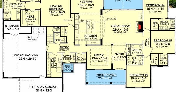 Plan 51726hz 4 bed french country with upstairs expansion bonus rooms house and design - House plans with bonus rooms upstairs ...