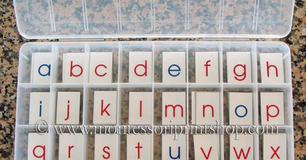 DIY Montessori Moveable Alphabet Montessori