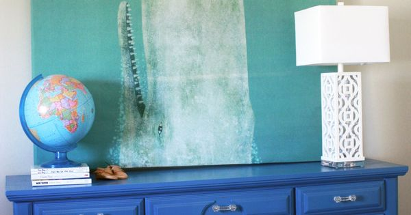 How to make large wall art with a shower curtain decor Decorate a large wall cheaply