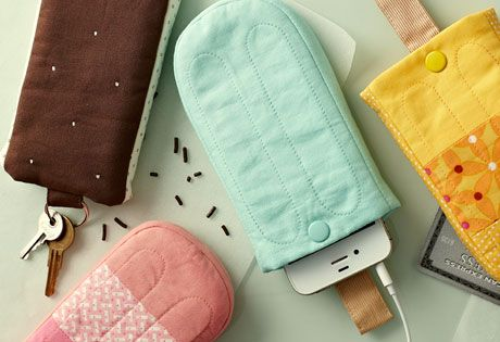Keep Your Cool: Smartphone Case Sewing Pattern on the Straight Stitch Society.