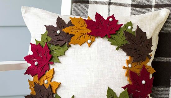 Diy Pottery Barn Inspired Fall Wreath Pillow Pottery