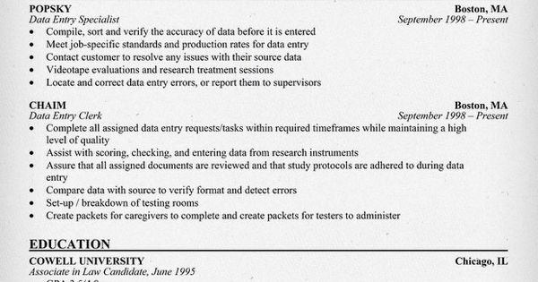 #Help With A Data Entry Specialist Resume (resumecompanion